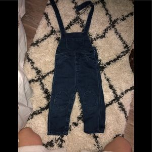 Hanna andersson 90 DENIM overalls.. KNEE PATCHES